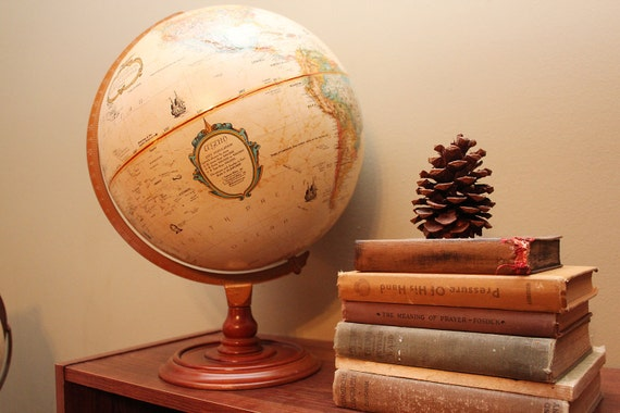 Sepia Replogle 12 inch world classic globe with wood base