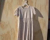 Child's Vintage-look Lockets Short Sleeved Dress size 8-10