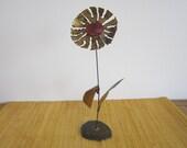 Brass and Enamel Flower
