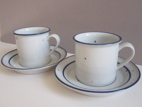 Dansk Blue Mist  Dinnerware pair of cups and saucers