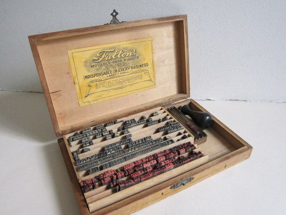 Vintage Rubber Type Kit