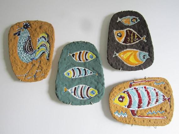 Mid Century Ceramic Plaques