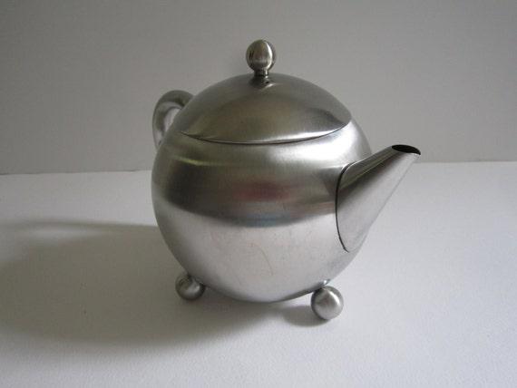 Vintage Stainless Steel Teapot