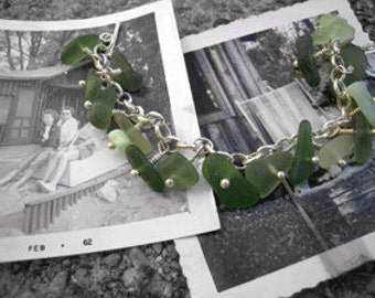 Emerald City Beach Glass Bracelet