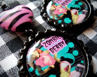 Zombie Derby earrings