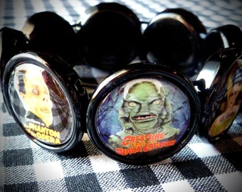 Classic Horror Icons collage bracelet