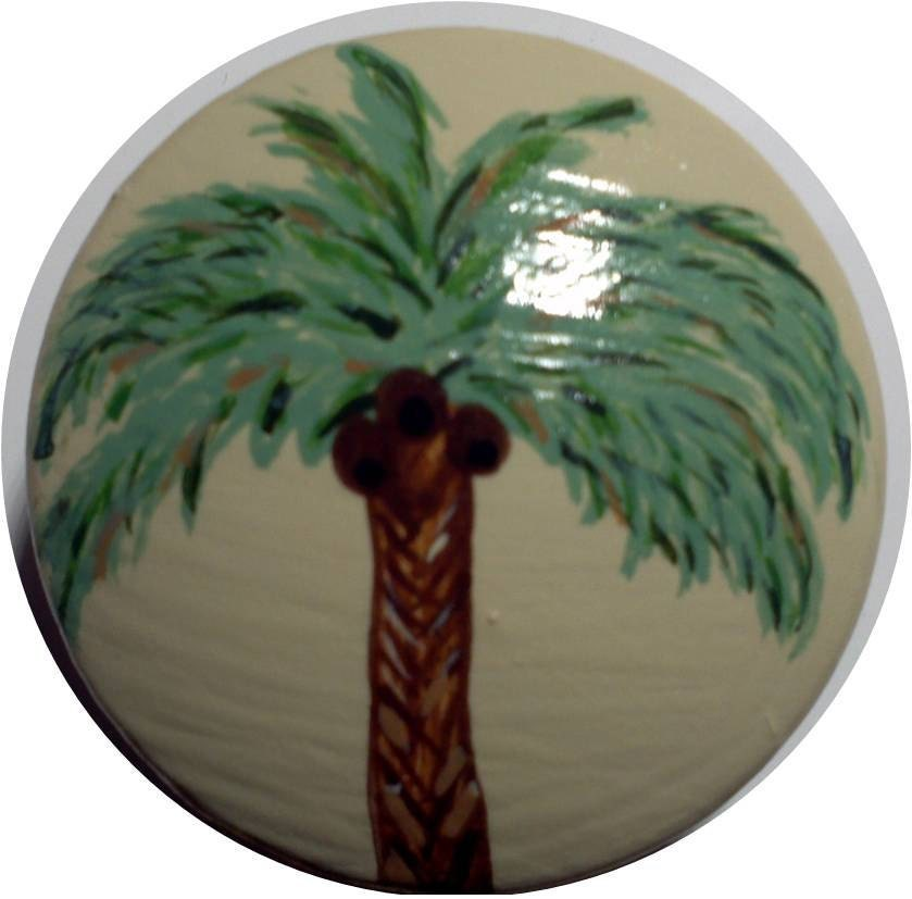 Hand Painted Beach Palm Tree Wooden Dresser by BeachGurlBoutique