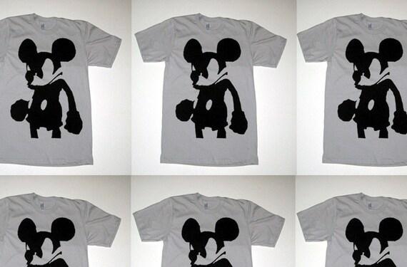 Evil Mickey Mouse Goth Punk Bauhaus T Shirt XL
