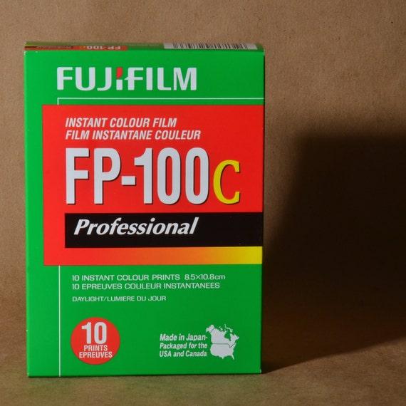 P O L A R O I D Pack Camera Color Film Fujifilm FP100c 10 Exposures for Emulsion Transfers