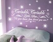 StickTak Stickers Twinkle Twinkle Little Star Childrens Nursery Vinyl Wall Sticker Decal Kids Twinkle Twinkle Little Star Childrens Nurser