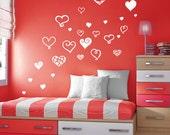 StickTak Stickers Large Cute Love Hearts Vinyl Sticker Wall Art Girls Decal
