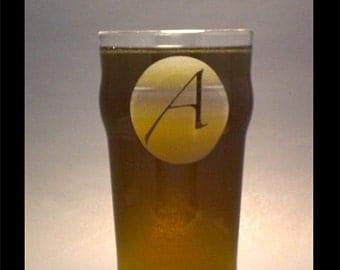 Atheist A on a pub glass