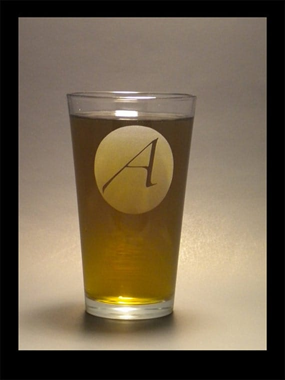 Atheist A on a Pint Glass