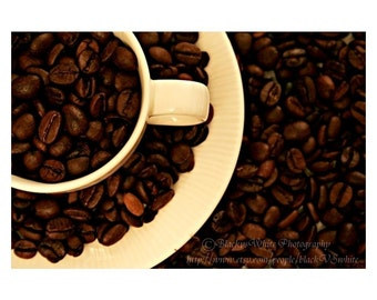 Coffee Photography Download photo, Coffee Photography Digital Download Coffee Beans Printable art for kitchen coffee art print kitchen decor