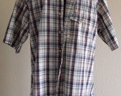 Vintage Short Sleeve Plaid Shirt from LOBO by Pen West