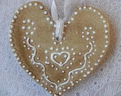 Set reserve for Melisa - Wedding Decoration - Ceramic Heart with White Dots