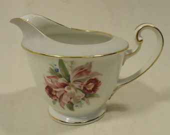 Noritake 5049 Vintage Cream Pitcher 6in x 4in x 4in China Gold Rim