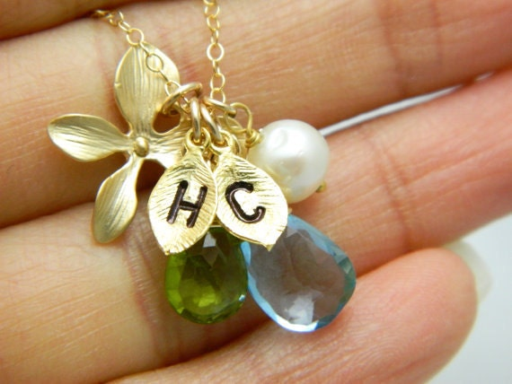 Items similar to Initial Necklace, Couples Necklace, Best ...