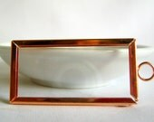 picture frame pendant - copper tone frame with glass insert - 51.5mm (1)