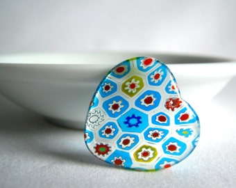 millefiori glass heart pendant 25mm (1)