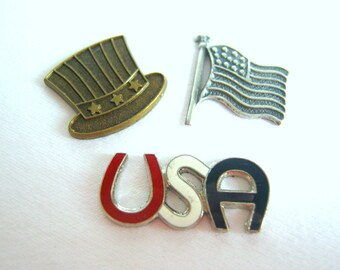 fourth of july embellishments set of three