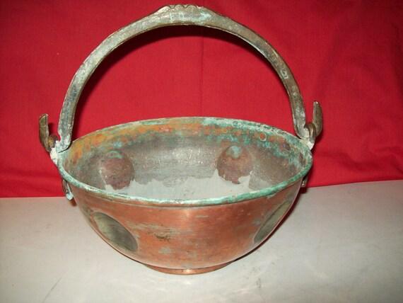 Hand Hammered Copper/Brass Pot / Vessel