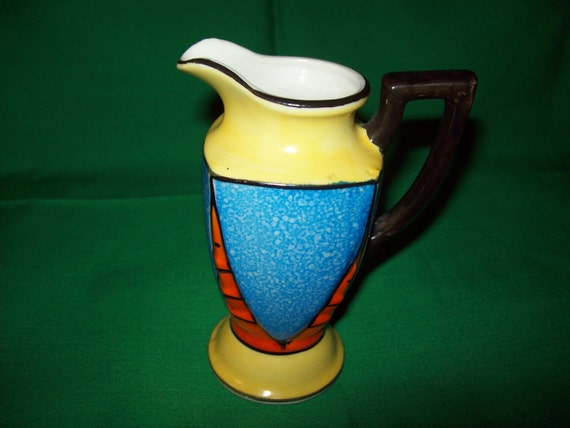 One (1), 1950's Hand Painted, Japanese, Small Pitcher / Creamer.