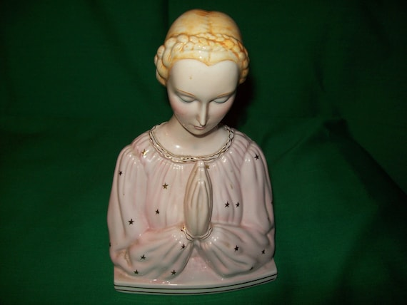 One (1), Giovanni Ronzan, Early 1960's Madonna, Hand Painted Underglaze Porcelain Figurine