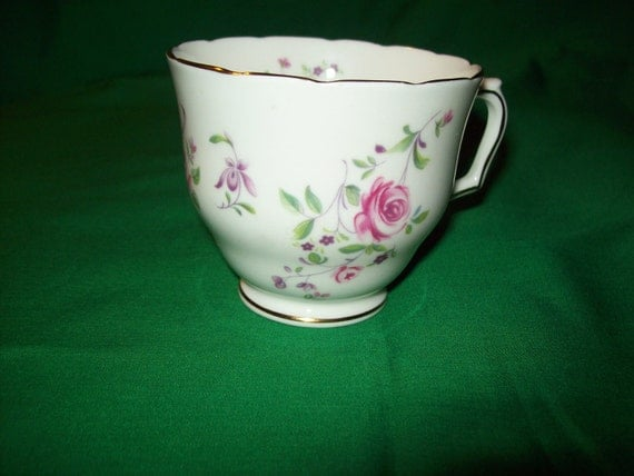 One (1), Crown, English, Fine Bone China Tea Cup