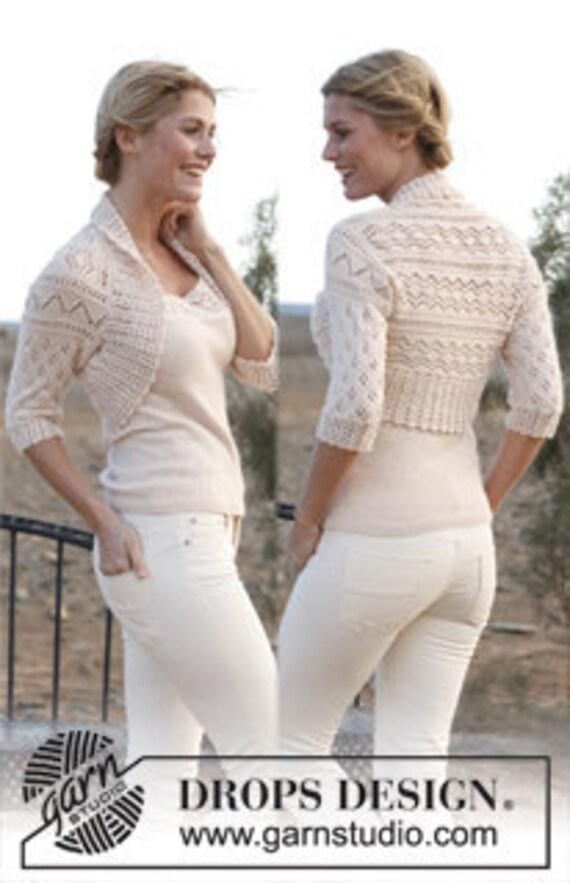 Hand knit bolero, women's bolero, wedding clothing, wedding lace shrug, white jacket