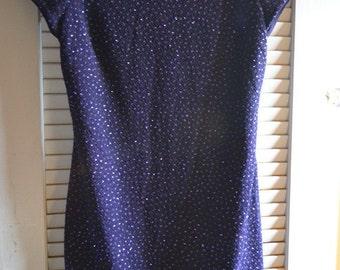 royal plum tailored short dress