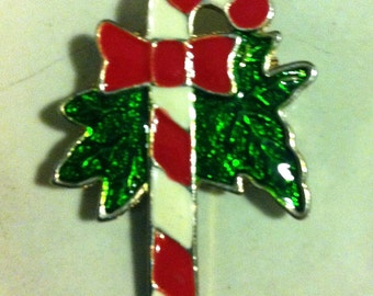 Candy cane pin