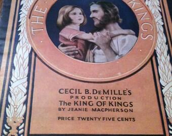 The King of Kings movie program