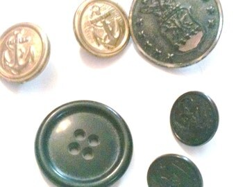 Assorted Pea Coat Buttons