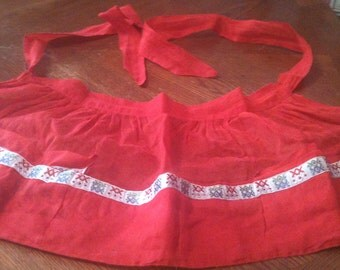 Red Sheer Hostess Apron