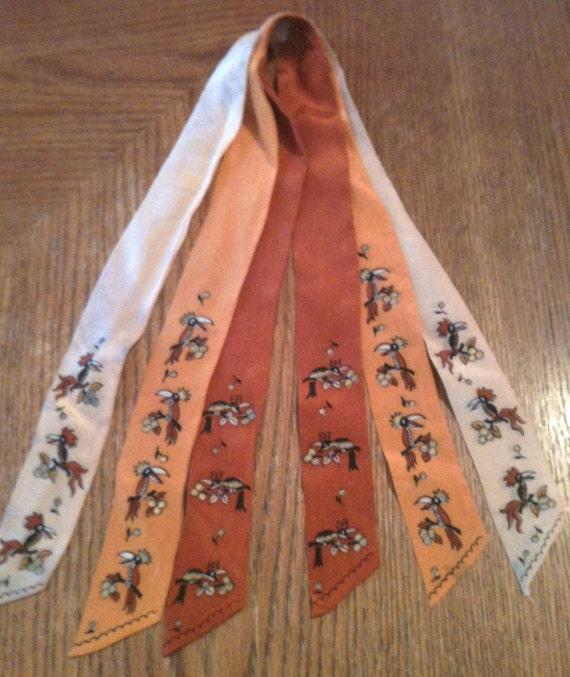 Vintage Silk Tri-Tie
