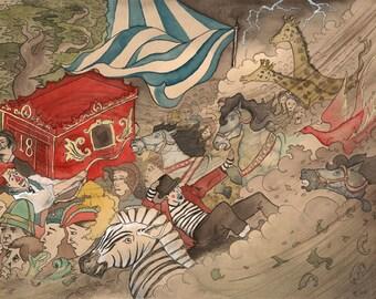 Wind-struck Circus - giclee print