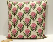 Pretty proteas cushion cover