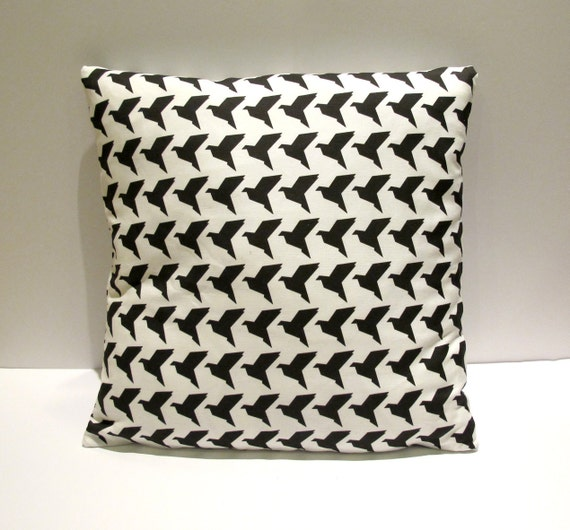 Origami birds cushion cover