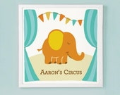 Custom Circus Nursery or Children's Wall Art
