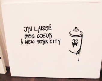 I left my heart in New York painting