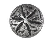 3 Sand Dollar 3/4 inch ( 20 mm ) Metal Buttons Silver Color