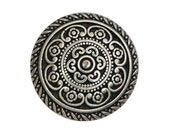 3 Cordes 5/8 inch ( 16 mm ) Metal Buttons Silver Color