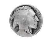 3 Indian Head 3/4 inch ( 20 mm ) Metal Buttons Antique Silver Color