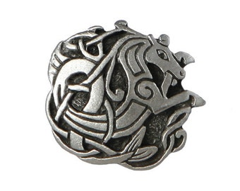 2 Celtic Seahorse 1 inch ( 24 mm ) Pewter Buttons
