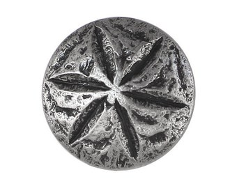2 Sand Dollar 1 inch ( 25 mm ) Metal Buttons Silver Color
