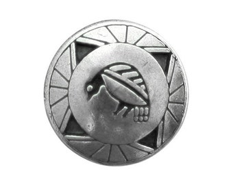 Danforth Southwest Quail 7/8 inch ( 22 mm ) Pewter Shank Button