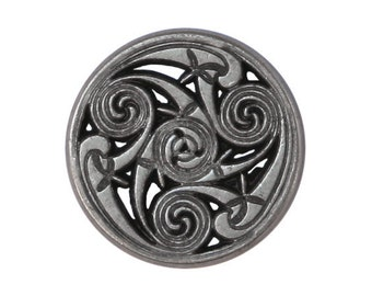 12 Celtic Swirls 7/8 inch ( 22 mm ) Metal Buttons Antique Silver Color