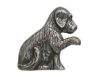 Danforth Molly Puppy 3/4 inch ( 20 mm ) Pewter Metal Button