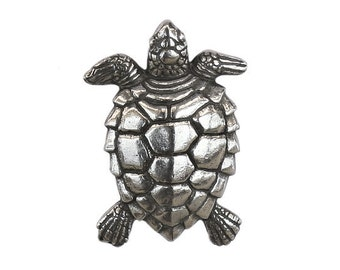Danforth Turtle 1 inch ( 25 mm ) Pewter Metal Button